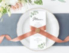 Impresion de menus para bodas y eventos