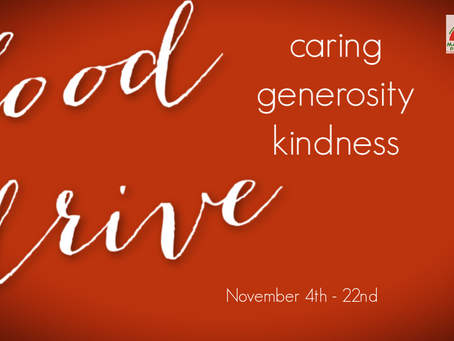 Our Food Drive: Teaching Thanks & Giving