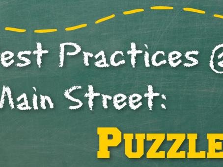 Best Practices @ Main Street: Puzzles