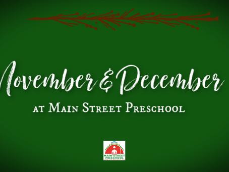 November & December @ Main Street Preschool