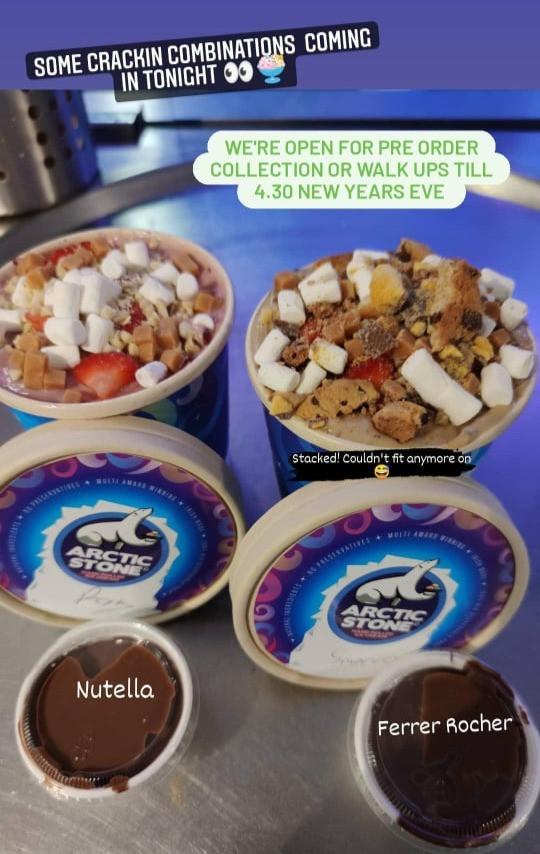 Arctic Stone Smoreo Ice Cream
