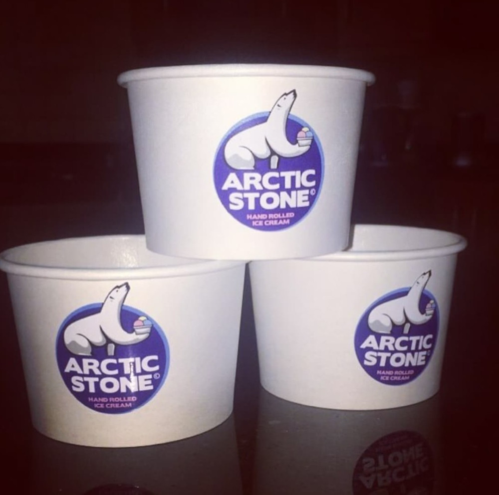 Arctic Stone Hand Rolled Ice Cream Containers