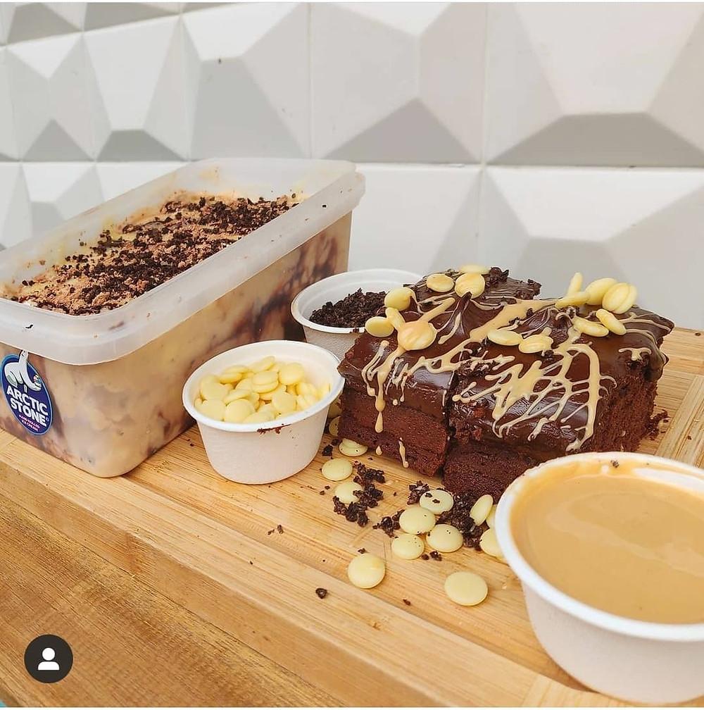 Arctic Stone Hot Fudge Brownies and Kinder Bueno Ice Cream