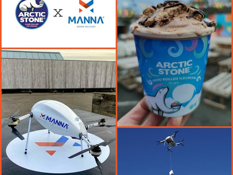 Arctic Stone x Manna Drone Delivery: Artisan Irish Ice Cream Delivered by Drone in 3 Minutes!