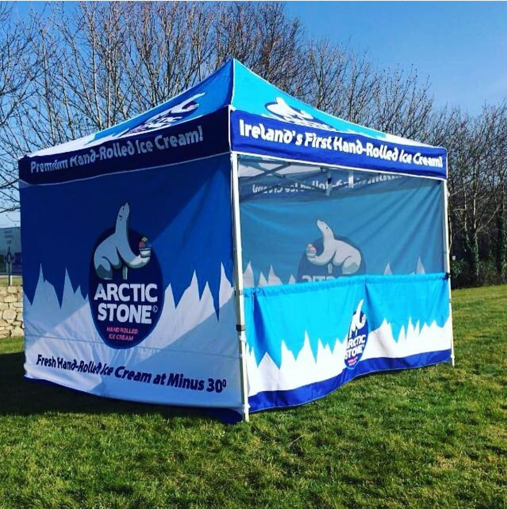 Arctic Stone Hand Rolled Ice Cream Market Stall