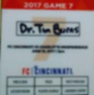 FC Cincinnati, Dr. Timothy Burns,Sports Medicine, Physcian, Doctor