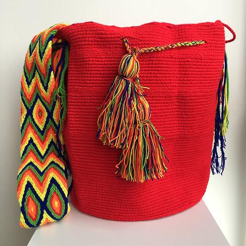 Rey Guajiro - Singlecolour Wayuu Bag