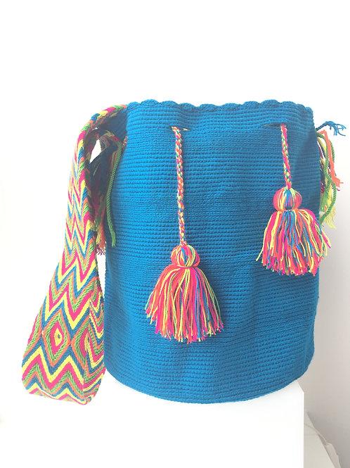 Turquoise - Singlecoloured Wayúu Handbag