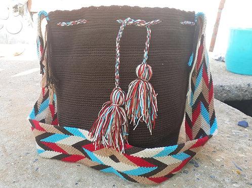 Barrancabermeja - Singlecoloured Wayuu Bag