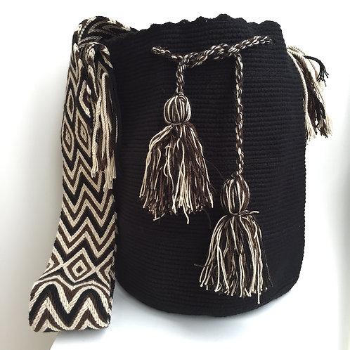 Noche Oscura - Singlecolour Wayuu Bag