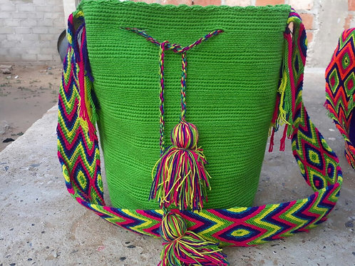 Limón - Singlecoloured Wayuu Bag