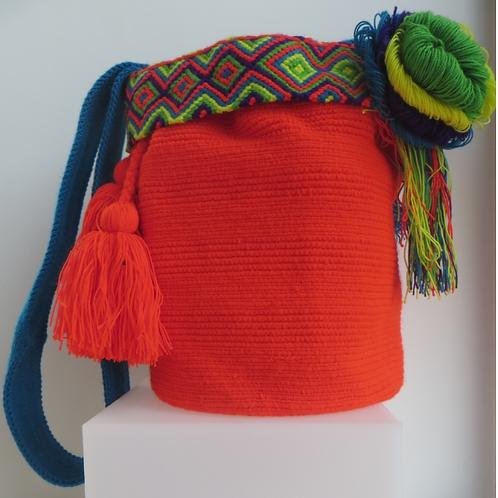 Orange Wayúu Handbag - Special Design - SC222004