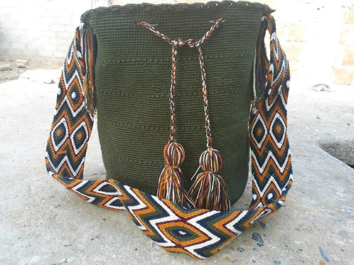 Oliva - Singlecoloured Wayuu Bag