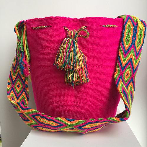Fucsia - Singlecolour Wayuu Bag