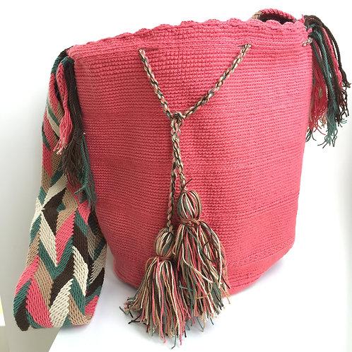Guayaba - Singlecolour Wayuu Bag