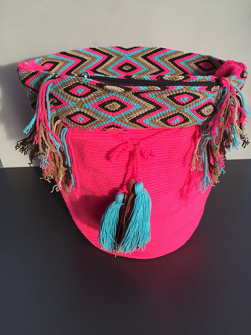 Lotus Pink - Premium Wayuu Bag w/Compartment