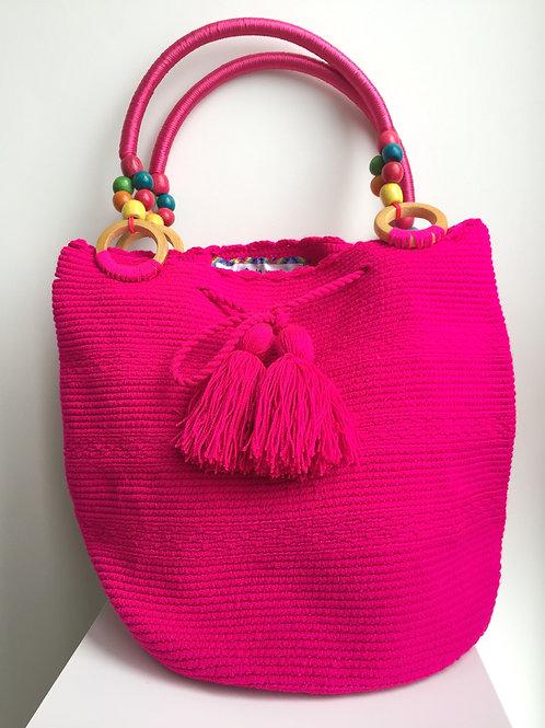 Fucsia - Handle Wayuu Bag