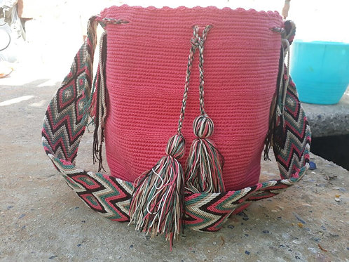 Guayaba - Singlecoloured Wayuu Bag