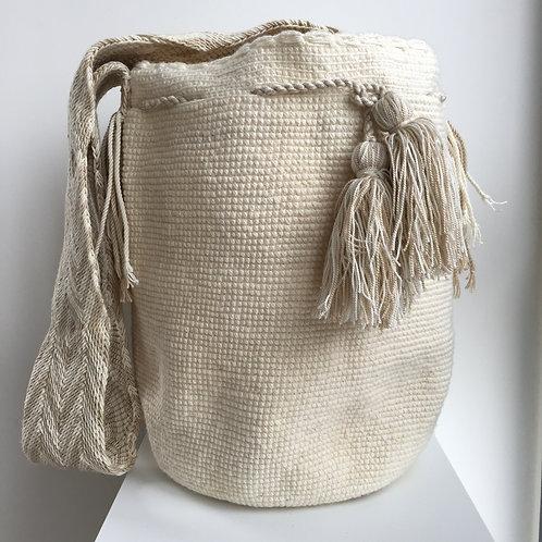 Leche - Singlecolour Wayuu Bag