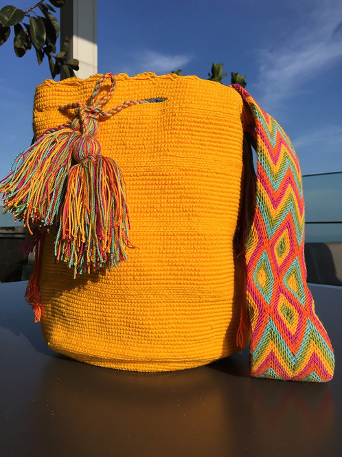Pumpkin Yellow, Red, Blue & Green -Arijuna Handbag