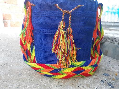 King Blue - Singlecoloured Wayuu Bag