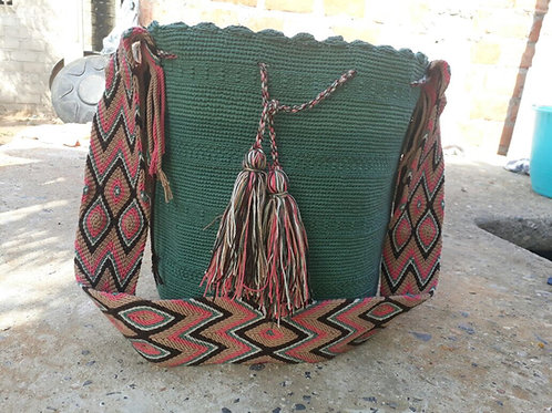 Conífera - Singlecoloured Wayuu Bag