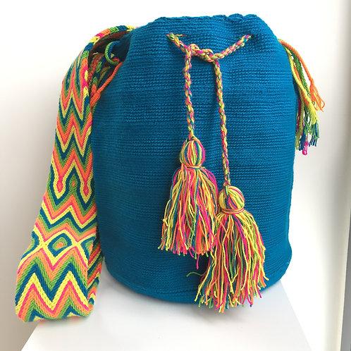 Turquesa Caribe - Wayuu Bag