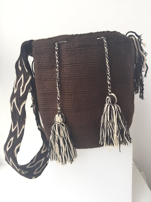 Dark Brown - Singlecoloured Wayúu Handbag