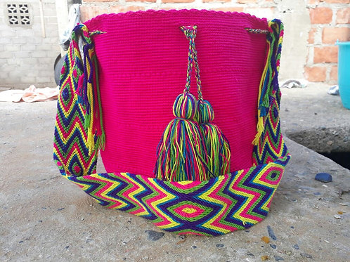 Fucsia Spiritual - Singlecoloured Wayuu Bag