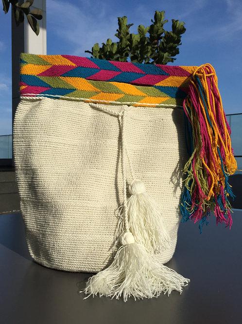White - Wayúu Handpurse Bag