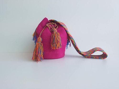 Pastel Pink - Singlecoloured Wayuu Bag