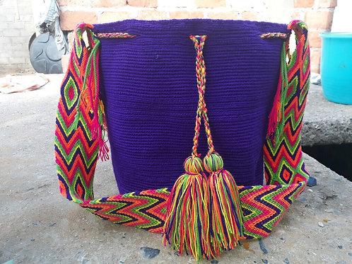 Violeta Wayuu - Singlecoloured Wayuu Bag