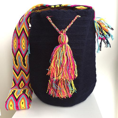 Medianoche - Singlecolour Wayuu Bag