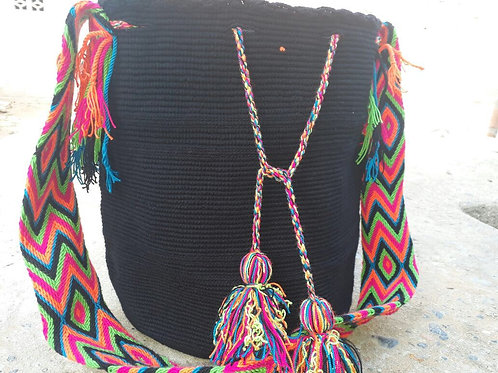 Ojo Espiritual - Singlecoloured Wayuu Bag