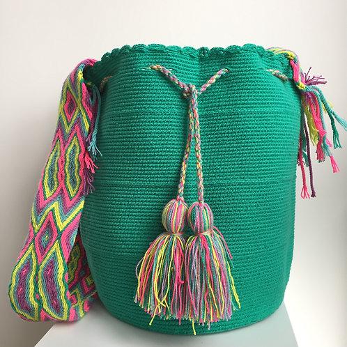 Verde Coral - Singlecolour Wayuu Bag