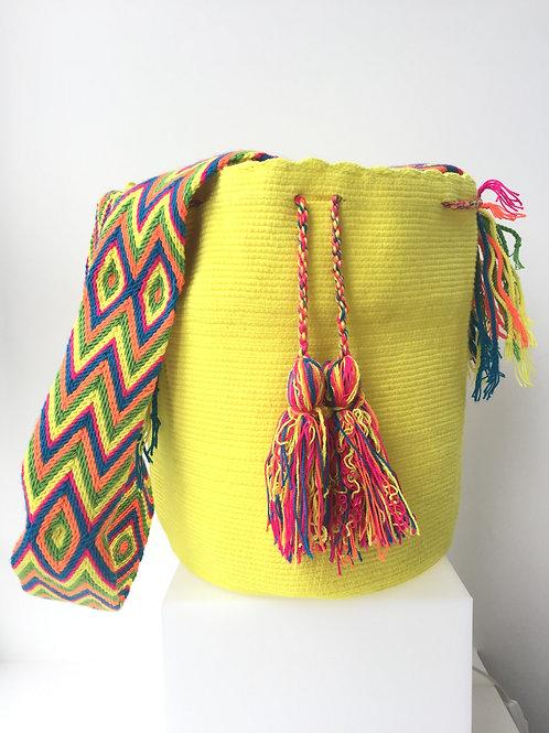 Sunlight Yellow - Singlecoloured Wayúu Handbag