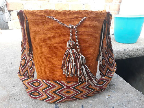 Ahuyama Desert - Singlecoloured Wayuu Bag