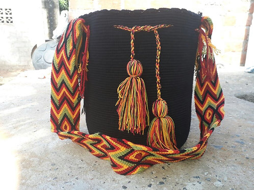 Noche Rasta - Singlecoloured Wayuu Bag