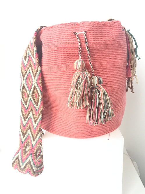 Pastel Pink - Singlecoloured Wayúu Handbag