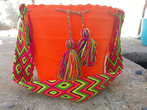 Mandarina - Singlecoloured Wayuu Bag