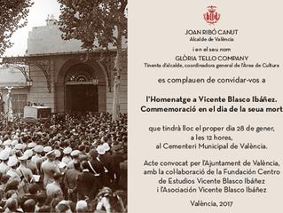 Homenaje a Blasco en el Cementerio Municipal