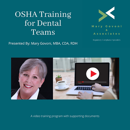 Video - OSHA Training for Dental Teams