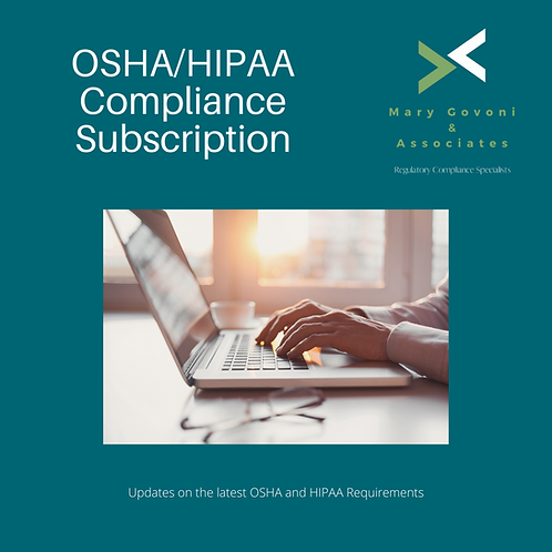 OSHA/HIPAA Compliance Subscription