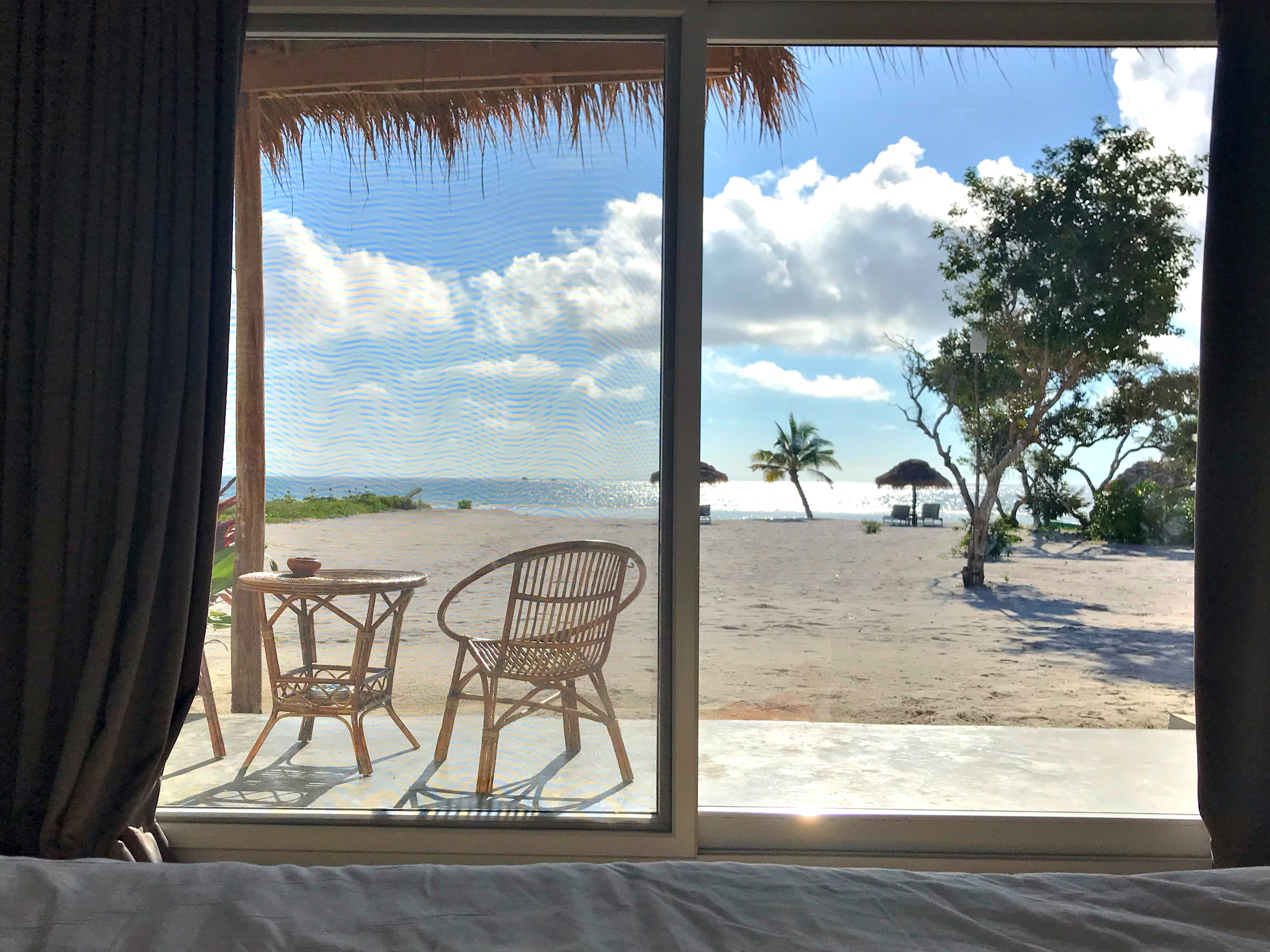 View from Double Deluxe beachfront room