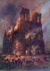 reims burning illustration 1914 G Fraipo