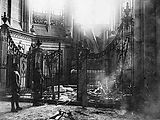 Amiens Cathedral chapel shell damage c 1