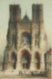 Rheim Cathedral, no statue, no flags pos