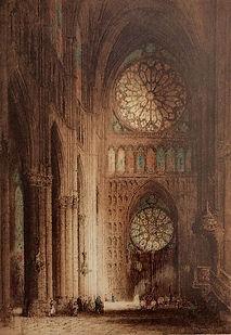 Rheims Cathedral, Rose Window 1914.JPG
