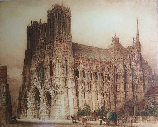 Rheims Cathedral from the South West BSD
