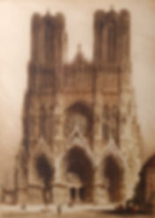 Rheims Cathedral 1915 from auction cropp